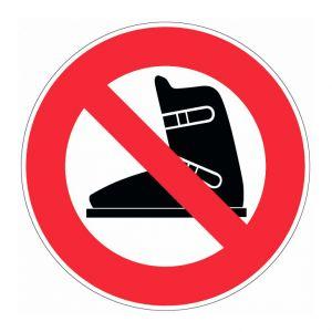 Novap Panneau Chaussures de ski interdite - Rigide Ø180mm - 4040288