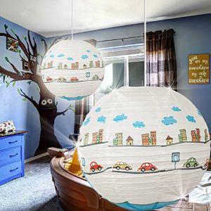 rabalux Suspension Lampe 400 mm/enfant/bleu/lampe suspendue Asie Japon Boule pièce 4890-rl
