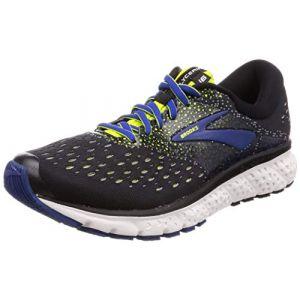 Brooks Glycerin 16, Chaussures de Running Homme, Noir (Black/Lime/Blue 050), 44 EU