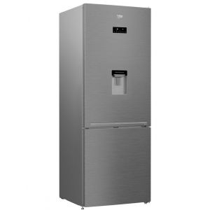 Beko Rcne520e20dzxp Réfrigérateur combiné 70cm 450l a+ nofrost inox