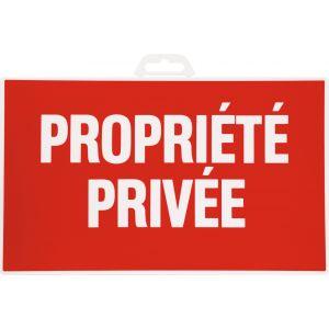 Outibat Panneaux de signalisation rectangulaires - Propriété privée