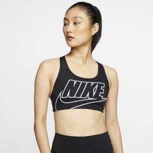Nike Brassière Swoosh Futura maintien normal Noir/Blanc - Taille L;M;S;XL;XS