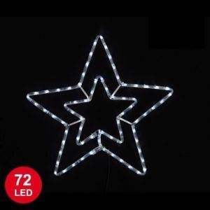 Étoile lumineuse de Noël 72 LED (56 cm)