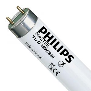 Philips Tube fluorescent Master TL-D Super 80 - 18 W - 4000 k - Lot de 25 -