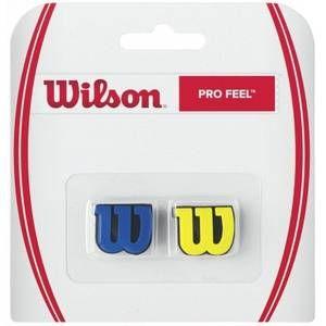Wilson Anti-Vibrateurs avec Logo pour Raquette, Pro Feel, Lot de 2, Jaune/Bleu, WRZ537700
