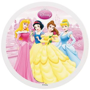 Dekora Disque de décoration en sucre Disney Princesses (16 cm)