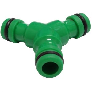 Aerzetix Raccord triple d'accouplement 1/2 jonction connexion rapide pour tuyau d'arrosage coupleur mâle/mâle