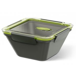 Emsa Lunch Box Bento Box carré 1.5 L gris vert