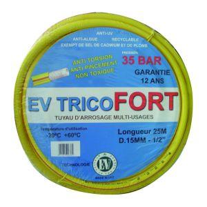 irrijardin Tuyau arrosage PVC EV Tricofort 5 couches 50m diamètre 15mm