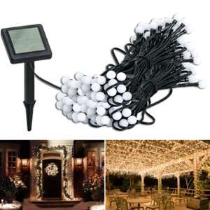 Idmarket Guirlande solaire 100 boules lumineuses blanches