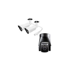 Amaryllo ATOM AR3S Pro - Pack de 2 caméras réseau bullet + Caméra réseau dôme extérieure Full HD jour/nuit autonome sans fil