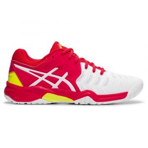 Asics Baskets Resolution Gs - White / Laser Pink - Taille EU 34 1/2