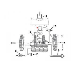 Procopi 1021017 - Couvercle de turbine de robot Victor
