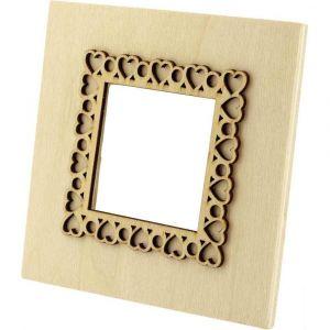 PW International Cadres photo forme carrée en bois - Lot de 5