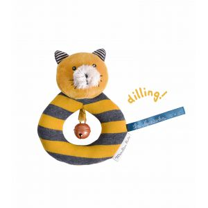 Moulin roty Hochet anneau chat Lulu Les Moustaches