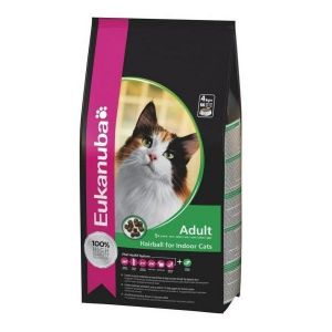 Eukanuba Croquettes pour Chat Adulte Hairball Control Sac 2 kg