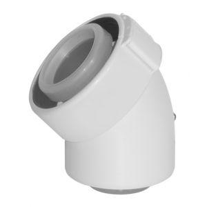 Ubbink Coude 45 80/125 PPTL/PVC Rolux Réf 228500