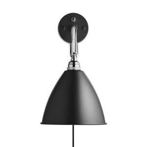 Gubi Bestlite BL7 Applique chrome, noir, avec interrupteur