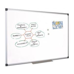 Mystbrand 48650 - Tableau blanc émaillé uni avec auget (45 x 60 cm)