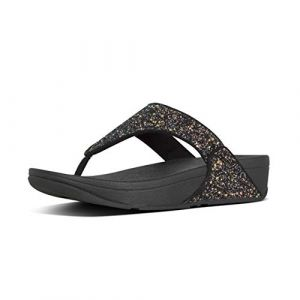 FitFlop Tongs Lulu Glitter Toe-thongs - Black Mix - EU 39