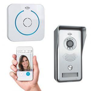 Elro DVC040IP Interphone Portier vidéo IP avec APP et Sonnette sans Fil