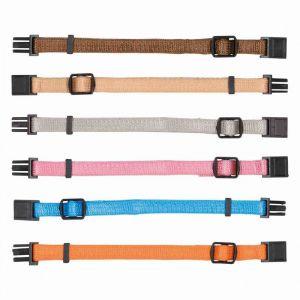 Trixie Colliers chiot - M-L: 22-35 cm/10 mm, 6 pcs, brun, beige, gris, rose, bleu, orange
