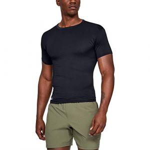 Under Armour T-shirt de compression à manches courtes Tactical HeatGear pour homme Black - Taille LG