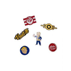 Fallout Fallout 76 Set of 6 Metal Pin Badges Collector's