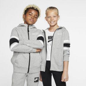 Nike B NK AIR Hoodie FZ Sweat-Shirt Garçon, DK Grey Heather/Black White, FR