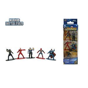 Jazwares Nano METALFIGS-Marvel Avengers Infinity War-Pack de 5 Figurines de 4cm