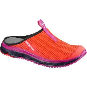 Salomon Femme RX Slide 3.0 Chaussons/Sandales - Orange (Fiery Coral/Evening Blue/Pink Glo), Pointure: 40