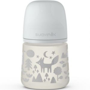 Suavinex Biberon avec tétine symétrique SX PRO S renard gris (150 ml)