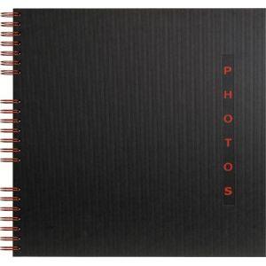 Exacompta 16921E - Album photos Design 32x32 cm, 60p. noires/360 photos, reliure à spirales, noir