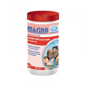 Marina Mini galets 20g de chlore choc Action Rapide - 1,2kg