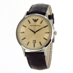 Emporio Armani AR2427 - Montre pour homme avec bracelet en cuir