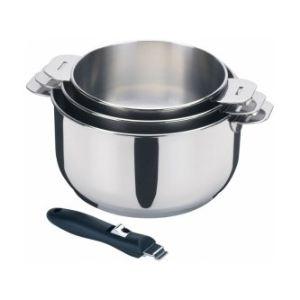 Lagostina 3 casseroles Salvapazio en inox (16/18/20 cm)