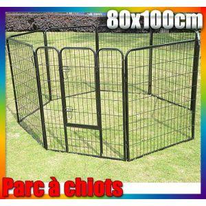 Homcom Enclos à chiens 8 panneaux 80 x 100 cm