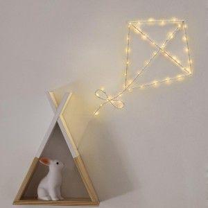 "Cerf Volant L ineux ""LED"" 51cm Blanc Prix"