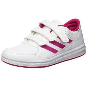 Adidas AltaSport CF, Chaussures de Fitness Fille, Blanc/Rose, Blanc (FTWR White/Bold Pink/FTWR White), 30 EU