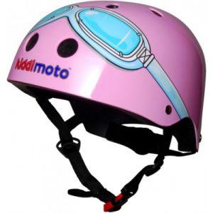 Kiddimoto Pink Google - taille M - KMH021/M - KIDDI MOTO - Casque vélo enfant