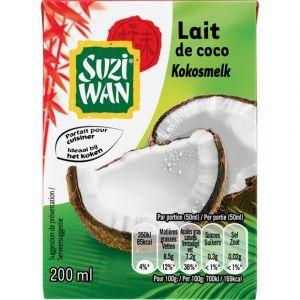 Suzi wan Lait de coco - La brique de 200ml