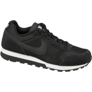 Nike MD Runner 2, Baskets Femme, Noir (Black/Black/White 001)- 37.5 EU