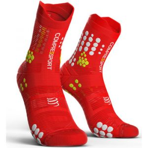 Compressport Chaussettes Racing Socks V3.0 Trail rouge - Taille 35 / 38