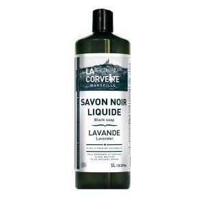 La Corvette Savon Noir Liquide Lavande Ecocert 1L