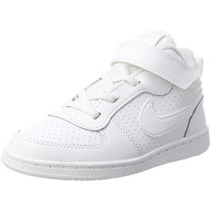 Nike Court Borough Mid (TDV), Sneakers Basses bébé garçon, Blanc White 100, 19.5 EU
