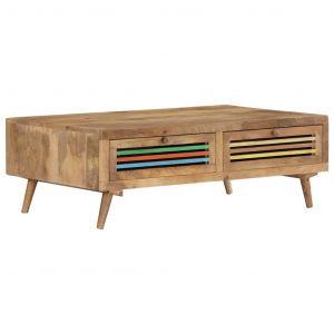 VidaXL Table basse 100 x 60 x 30 cm Bois de manguier massif