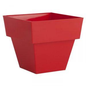 Pot carré en plastique 14 x 14 cm