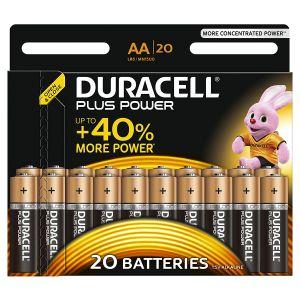 Duracell Blister de 20 piles LR06 Plus
