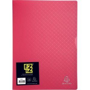 Exacompta 85395E - Protège-documents FIZZ 60 vues, polypro, framboise