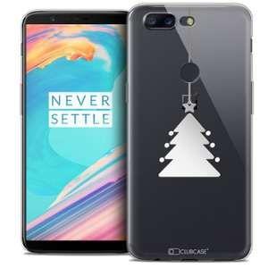 CaseInk Coque OnePlus 5T (6 ) Extra Fine Noël 2017 Petit Arbre